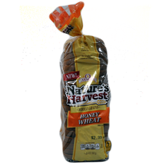ARNOLD NATURE'S HARVEST WHOLE GRAINS HONEY WHEAT BREAD