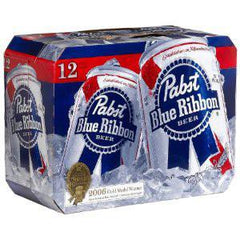 PABST BLUE RIBBON BEER - 12 PACK - 12 FL OZ EACH BOTTLE