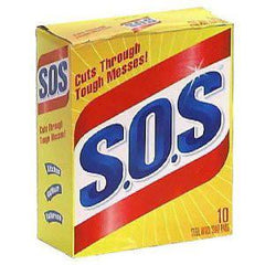 S.O.S STEEL WOOL SOAP PADS 10 PADS