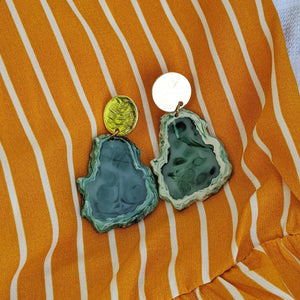 Green Stone Earrings - Shop Boho PR
