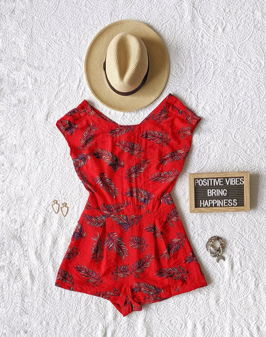 Tropical Red Romper