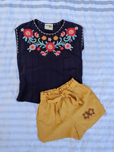 Embroidered Flowers Sleeveless Boho Top - Shop Boho PR