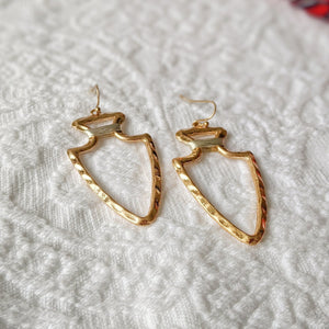 Arrowhead Metal Earrings - Shop Boho PR
