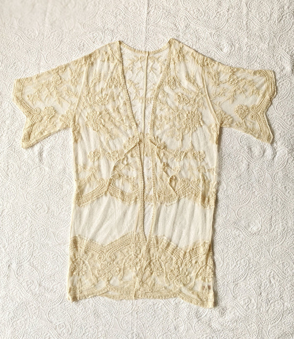 Lace Embroidered Tan Cover Up