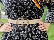 Load image into Gallery viewer, Golden Double Buckle Belt - Shop Boho PR