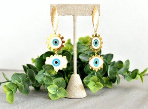 Double Eyes Drop Earrings - Shop Boho PR