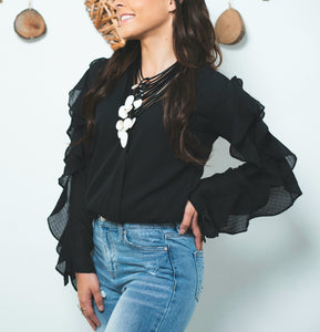 Black Flair Top - Shop Boho PR