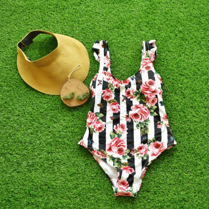 Roses and Butterflies One Piece Swimsuit - Shop Boho PR