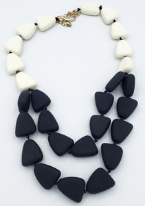 Black and White Stone Necklace