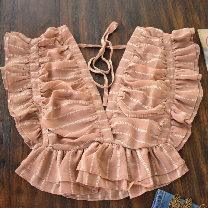 Dusty Pink Ruffle