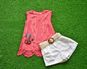 Sleeveless Coral Top
