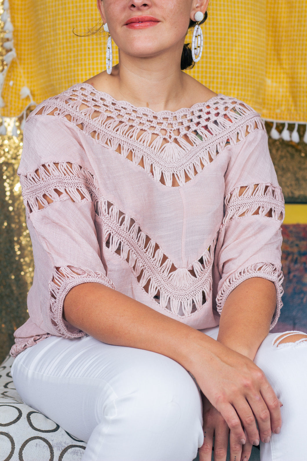 Crochet Blush Top