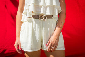 Layered Crop Top and Pocketed Short Set