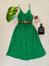 Load image into Gallery viewer, Green Boho Midi Dress