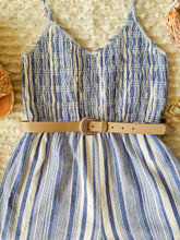 Load image into Gallery viewer, Blue Striped Romper