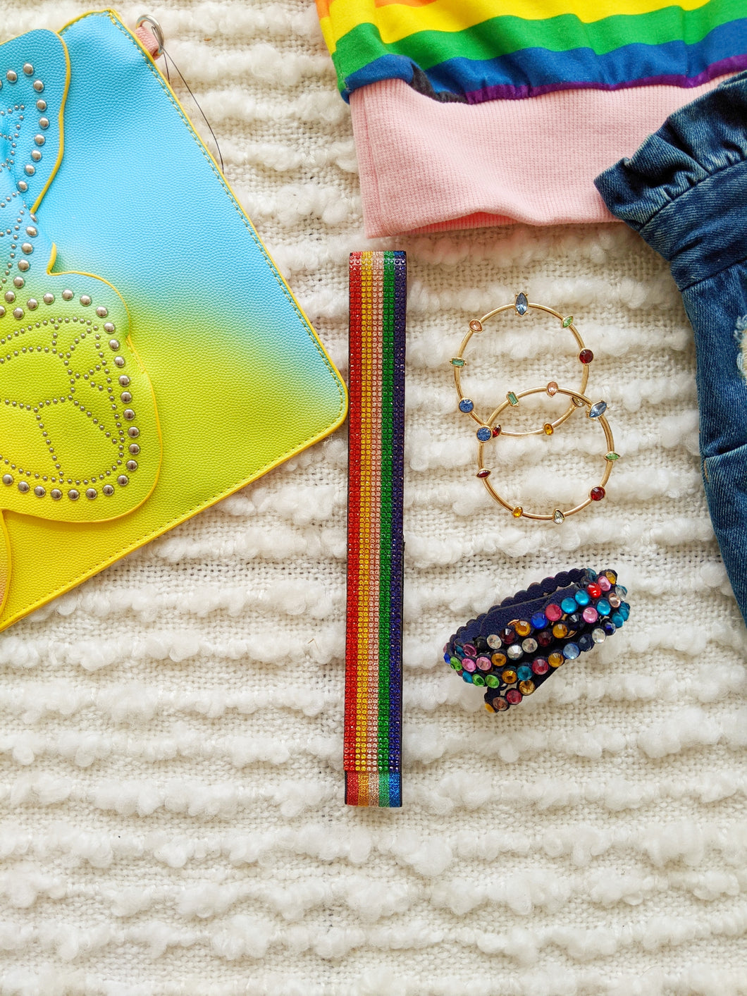 Elastic Rainbow Headband - Shop Boho PR