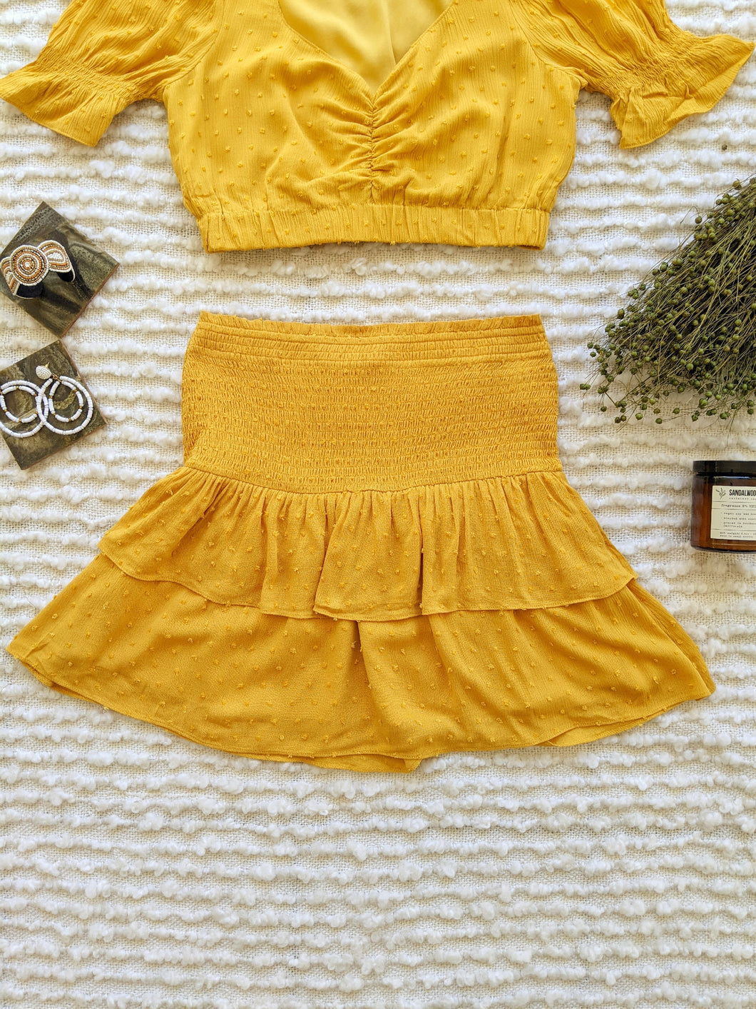 Crop Top + Mini Skirt Set - Shop Boho PR