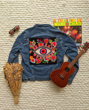 Load image into Gallery viewer, Jean Rocker Jacket with Custom Patch - Shop Boho PR