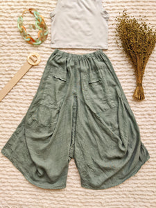 Oversized Linen Harem Pants - Shop Boho PR