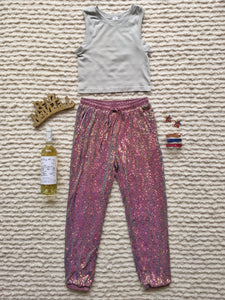 Two Tone Colored Full Sequin Jogger - Shop Boho PR