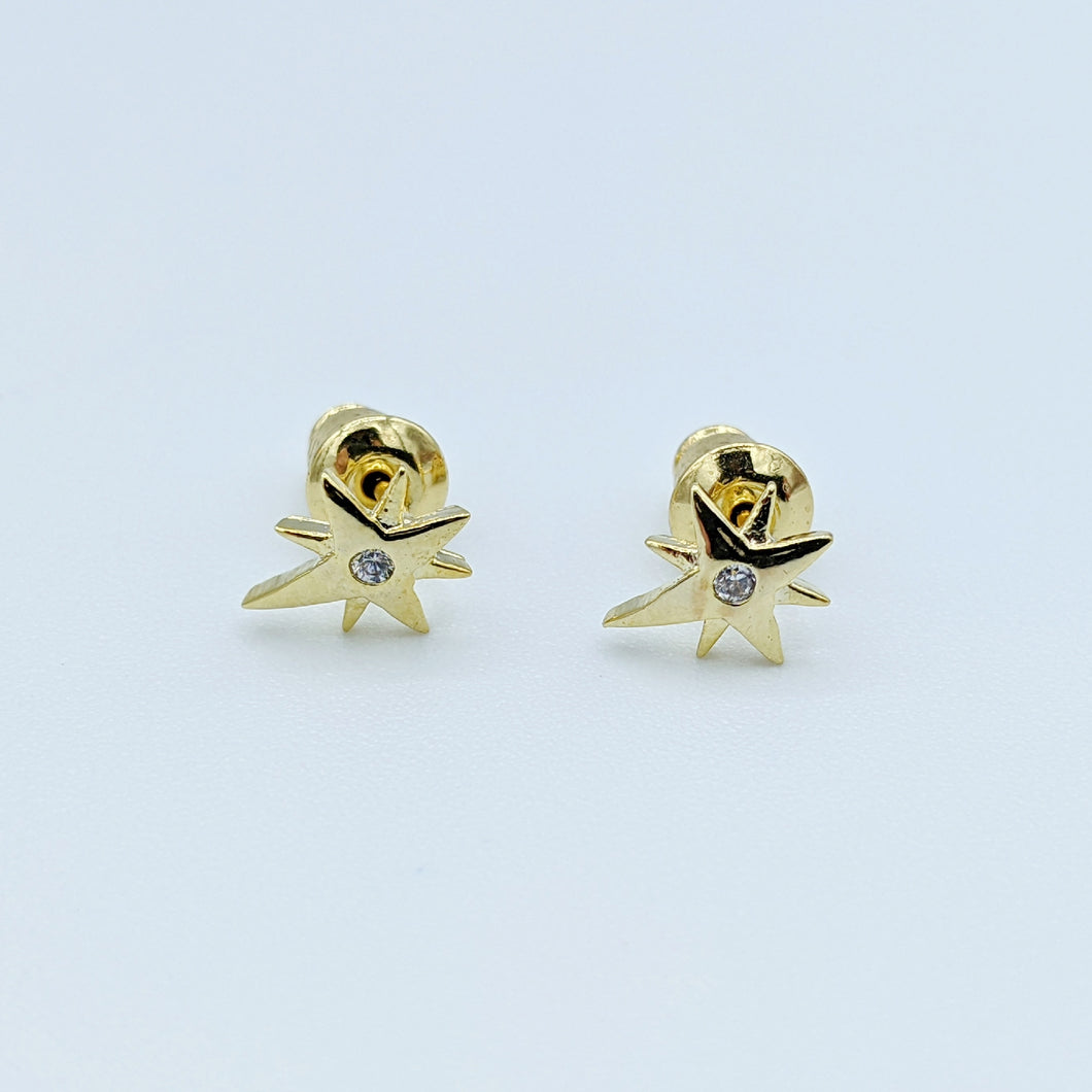 Star Rhinestone Stud Earrings - Shop Boho PR