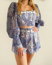Load image into Gallery viewer, Paysley Short Belted Set - Shop Boho PR