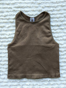 Essential Basic Sleeveless Crop Top