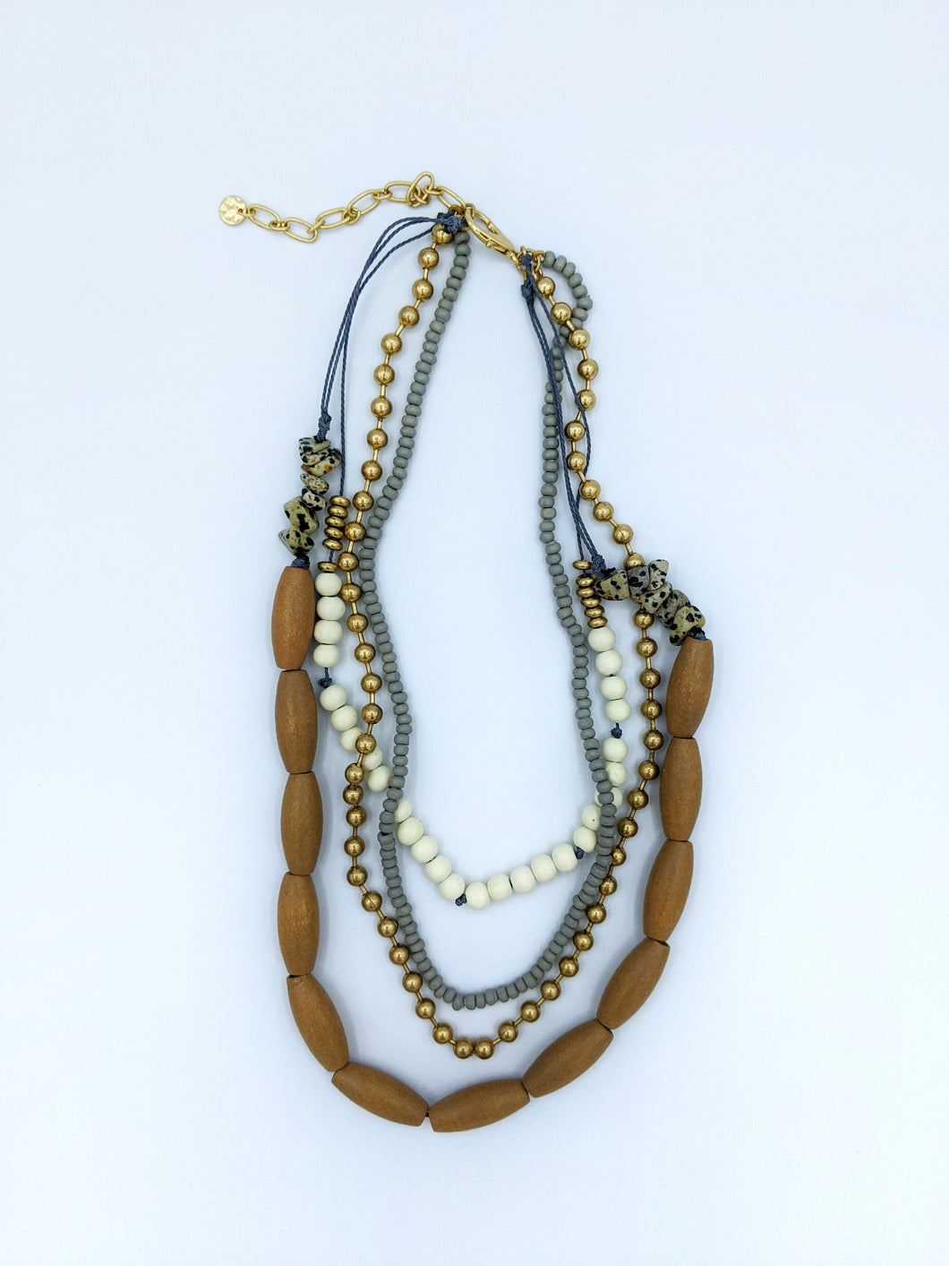 Wood and Beaded Necklace