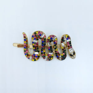 Colorful Snake Hairpin