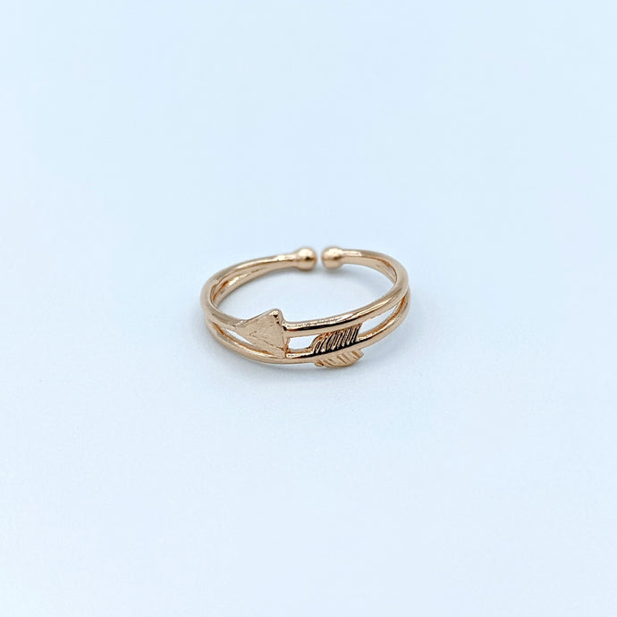 Double Arrow Rose Gold Ring