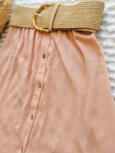 Load image into Gallery viewer, Apricot Crop Top + Skirt Set