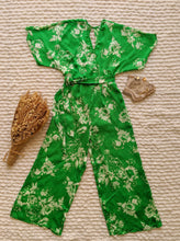 Load image into Gallery viewer, Flowers Green Jumpsuit