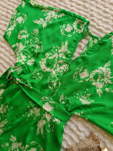 Flowers Green Jumpsuit