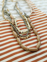 Load image into Gallery viewer, Wood and Beaded Necklace