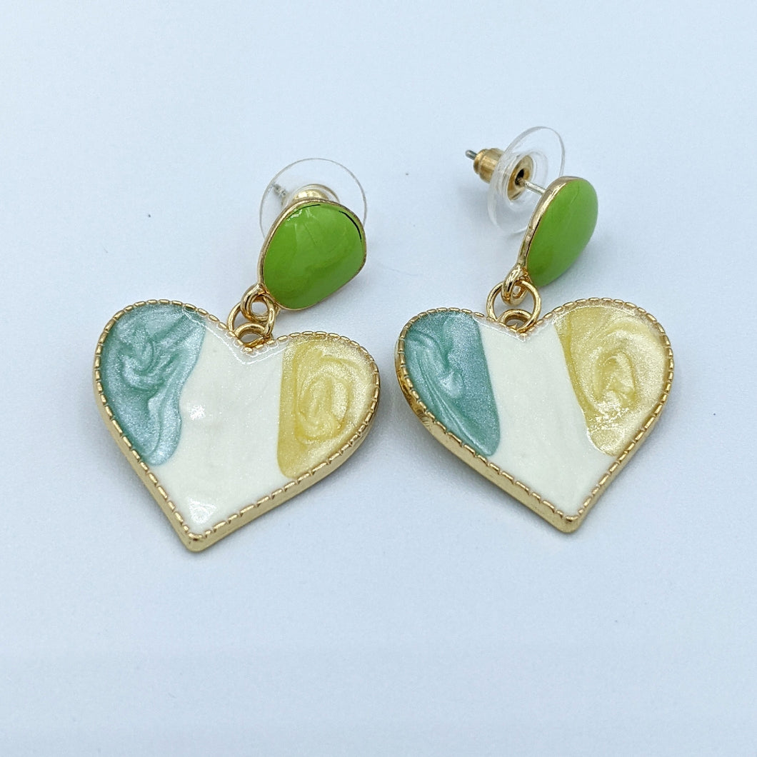 Enamel Heart Design  Earrings
