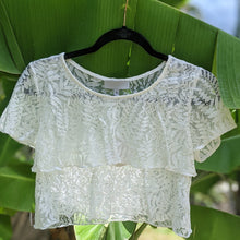 Load image into Gallery viewer, Semi-Sheer Lace Tiered Crop Top - Shop Boho PR