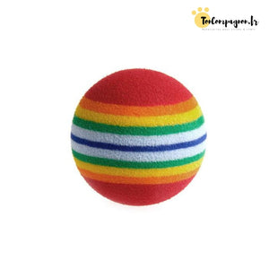 Lot De 10 Balles Arc-En-Ciel
