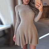 Naomi Sweater Dress | GRAY