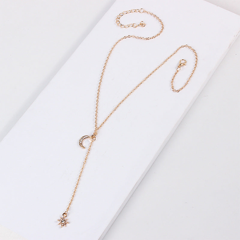 Moon&Star Drop Necklace