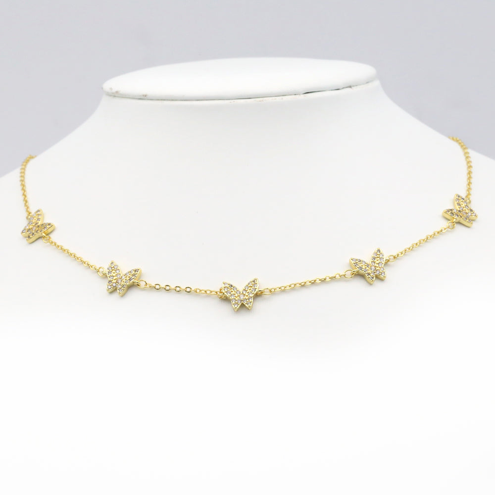 Flying Butterfly Choker (18k Gold)