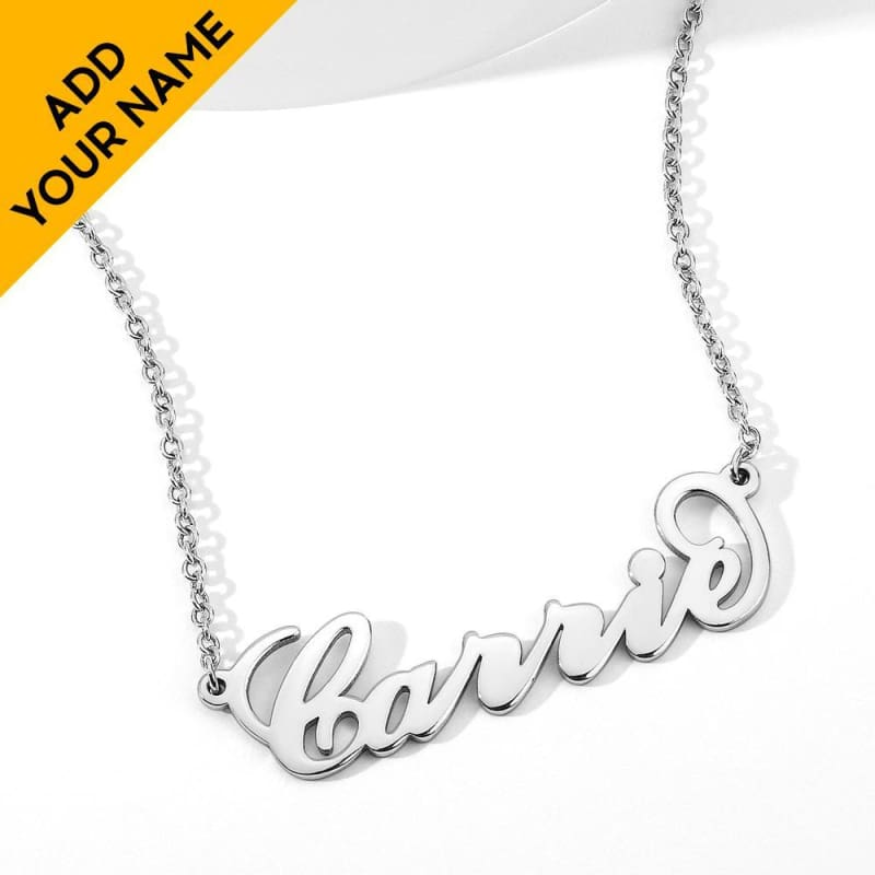 Ernest Martheo Personalized Name Custom Necklace - Alison Font / Silver Color