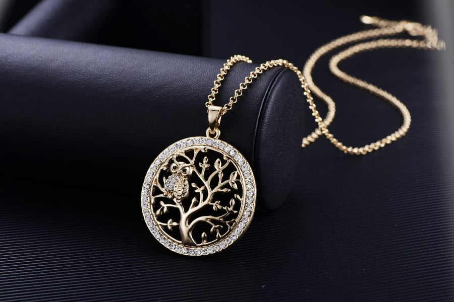 """OWL IN TREE"" Pendant"