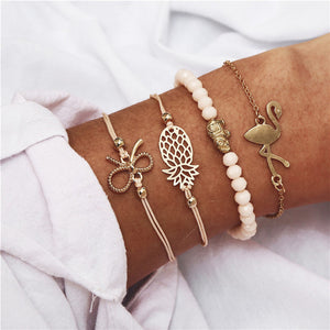 LA FLARE Golden Charm bracelet bundle