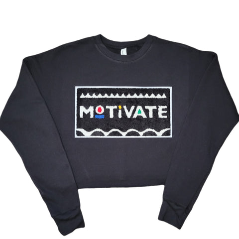Motivate Cropped Sweatshirt