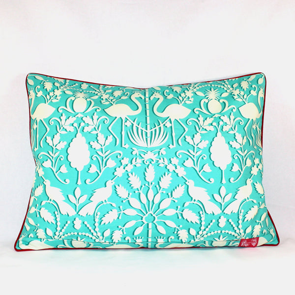 Cushion - Let's Flamingle Aqua - 50 x 70 cm
