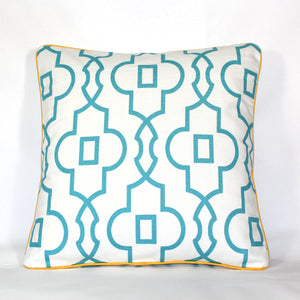 Cushion - Palm Beach Trellis Yellow - 50 x 50 cm