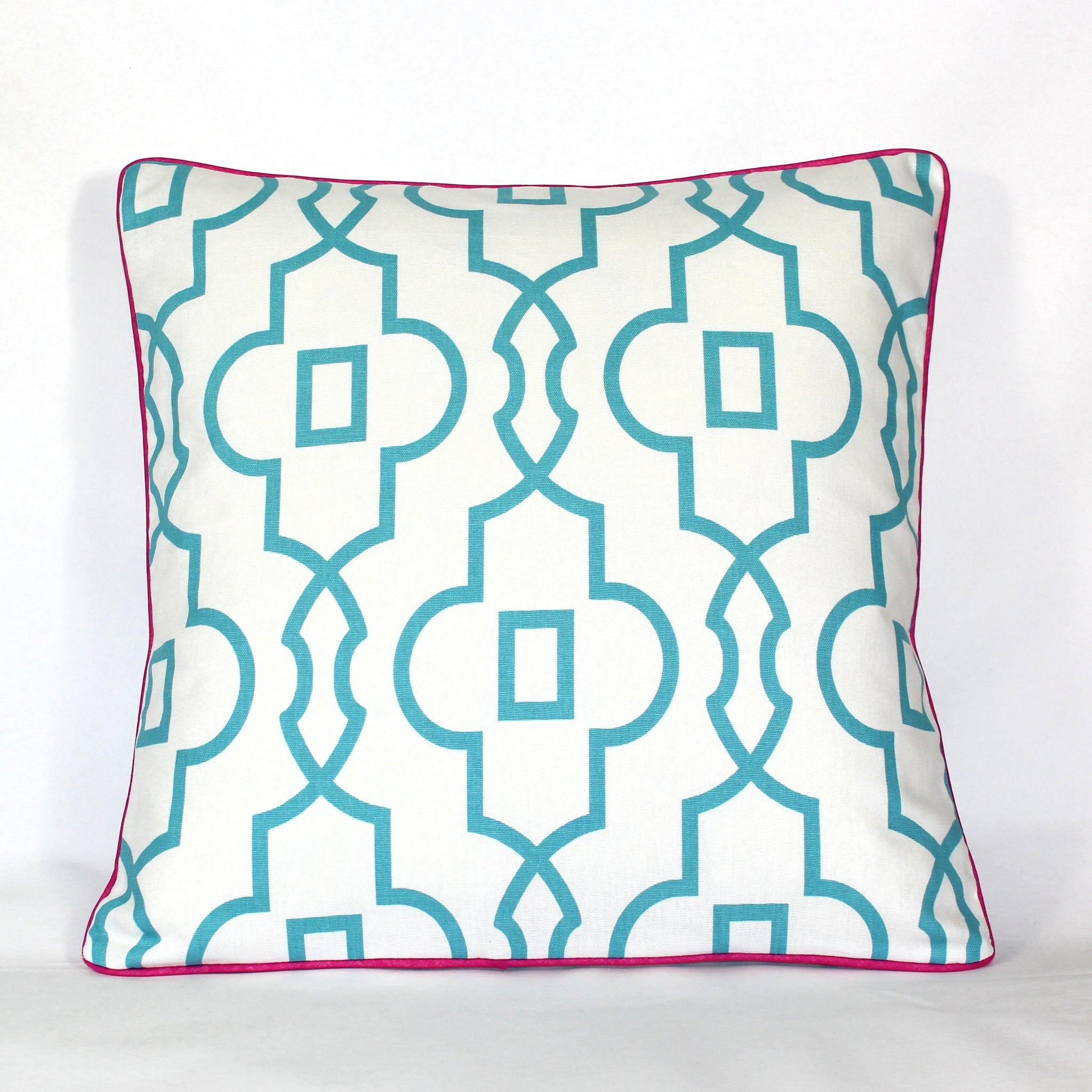 Cushion - Palm Beach Trellis Pink - 50 x 50 cm