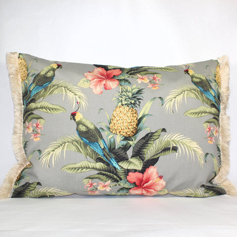 Cushion - Paradise Parrot Cream - 50 x 70 cm