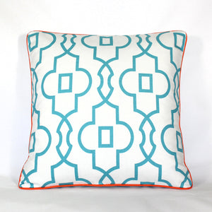 Cushion - Palm Beach Trellis Orange - 50 x 50 cm