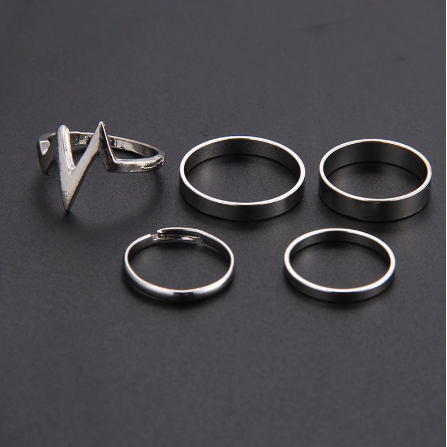Cute Knuckle Ring Set